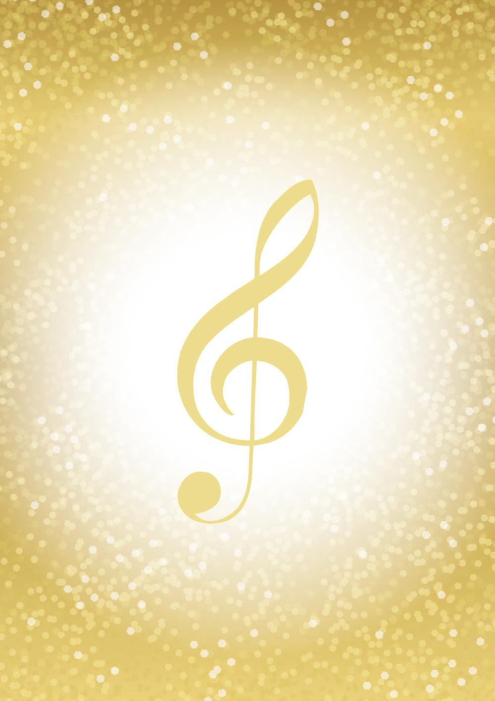 Gold G-clef 2