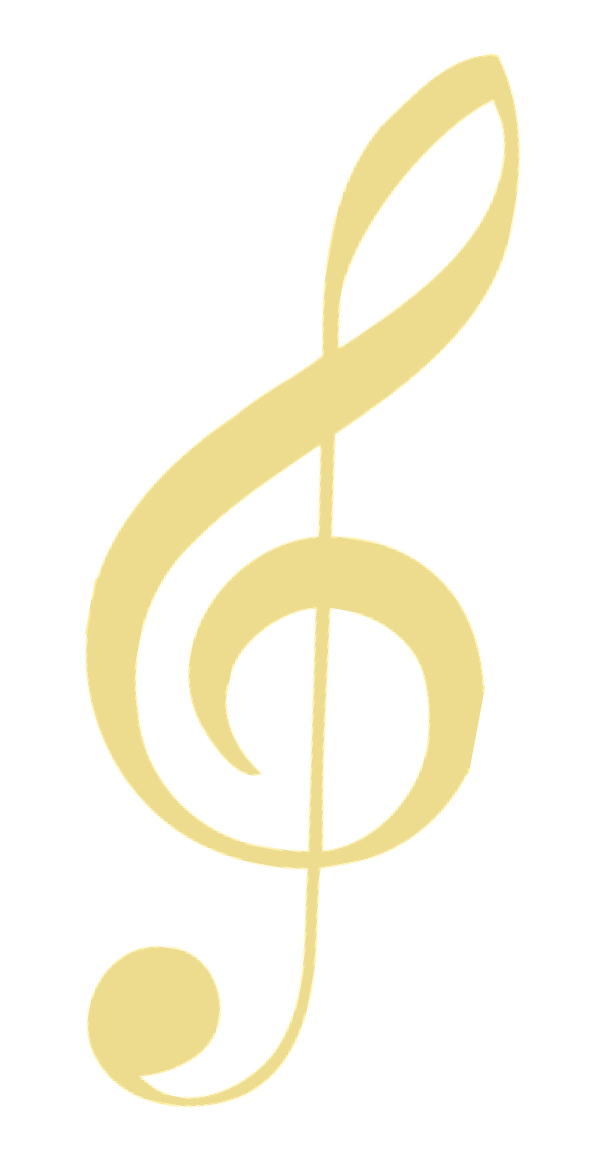 Gold G-clef